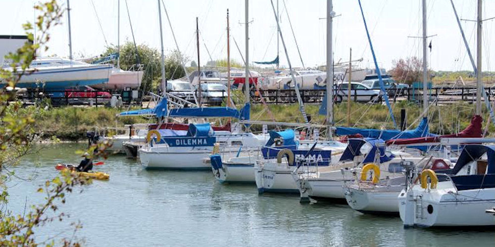Image of a busy marina
