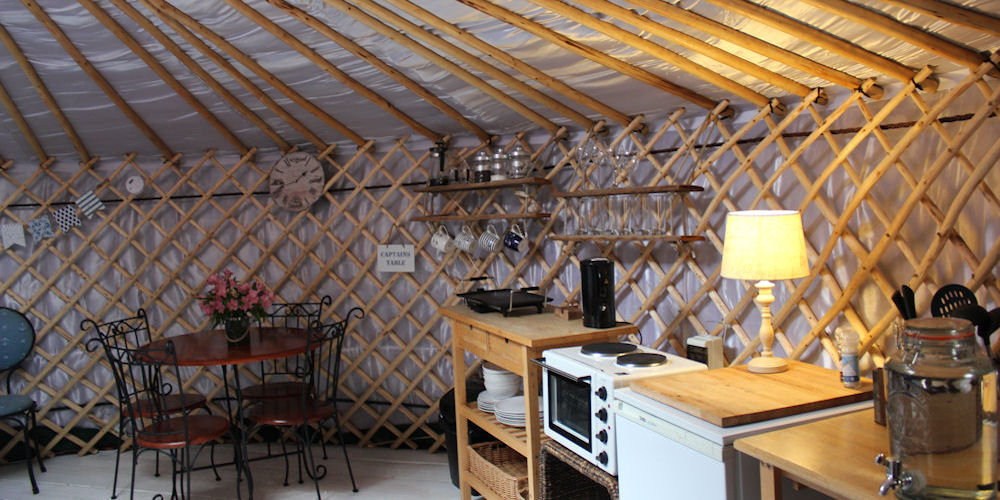Image inside an Emsworth Yurt